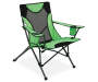 Green Sports Folding Quad Chair silo angled