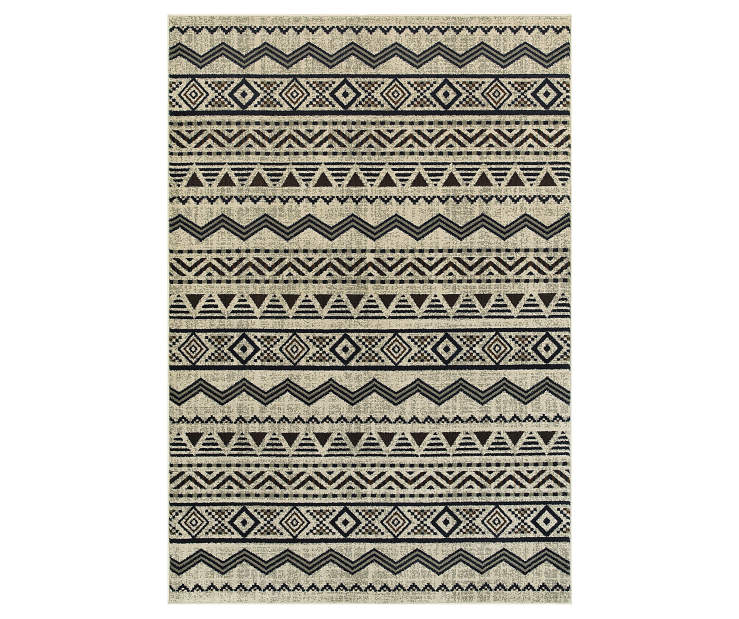 Griggs Gray Area Rug 5FT3IN x 7FT6IN Silo Image