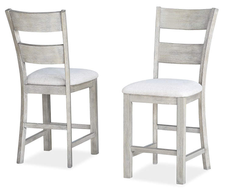 HAYDEN GREY PAIR OF BARSTOOLS