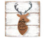 HC 6IN PLAQUE W GALVANIZED DEER MERRY