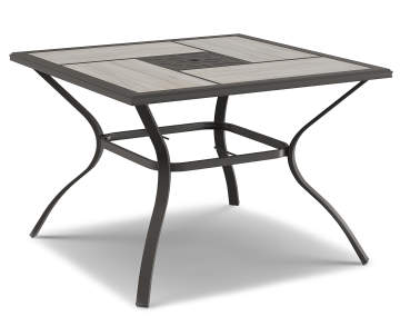6d072e302ef8a Wilson & Fisher Hillcrest Stone Tile Top Square Outdoor Dining Table, (40