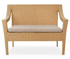 Wilson & Fisher Homestead Tan All Weather Wicker Cushioned Outdoor Dining Bench - Big Lots