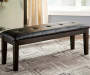 Haddigan Dark Brown Dining Bench lifestyle