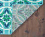 Halsey Blue and Green Indoor Outdoor Area Rug 5 feet 3 inch x 7 feet 6 inch lifestyle