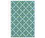 Halsey Blue and Green Indoor Outdoor Area Rug 5 feet 3 inch x 7 feet 6 inch silo front