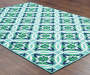 Halsey Blue and Green Indoor Outdoor Area Rug 7 feet 10 inch x 10 feet 10 inch lifestyle