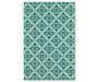 Halsey Blue and Green Indoor Outdoor Area Rug 8 feet 6 inch x 13 feet silo front