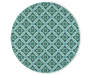 Halsey Blue and Green Round Indoor Outdoor Area Rug 7 feet 10 inch silo front