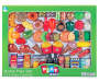 Hamburger and Snacks 70 piece play food set with assorted imaginative play food in packaging overhead view silo image