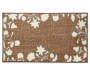 Hamisi Floral Chocolate and White Accent Rug 1 feet 8 inch x 2 feet 10 inch silo front