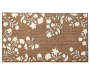 Hamisi Floral Chocolate and White Accent Rug 26 inch x 45 inch silo front