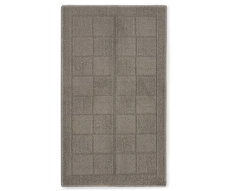 Hampton Gray Accent Rug 1 Feet 8 Inches by 2 Feet 10 Inches Overhead Shot Silo Image