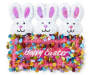Happy Easter Bunny Trio Banner Wall Décor Silo Front View