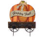 Happy Fall Pumpkin Wagon Yard Stake silo front