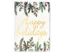 Happy Holidays Floral Box Plaque silo front