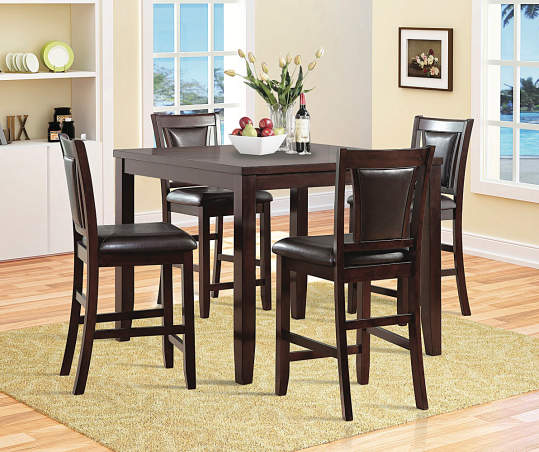 Harlow 5 Piece Pub Table Chair Set, Big Lots Dining Room Table