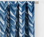 Hartley Indigo Artistic Chevron Blackout Single Curtain Panel 84 inches Cropped Lifestyle