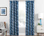 Hartley Indigo Artistic Chevron Blackout Single Curtain Panel 84 inches Lifestyle