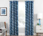 Hartley Indigo Artistic Chevron Blackout Single Curtain Panel 95 inches Lifestyle