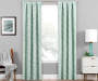 Hartley Mint Artistic Chevron Blackout Single Curtain Panel 63 Inches Lifestyle