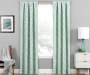 Hartley Mint Artistic Chevron Blackout Single Curtain Panel 95 inches Lifestyle