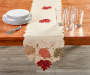 Harvest Leaf Cutwork Table Runner 13 Inches by 70 Inches On Table with Props Room Environment Lifestyle Image