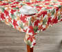 Harvest Leaves Tablecloth 60 Inches by 102 Inches On Table with Props Lifestyle Image