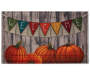 Harvest Welcome Banner and Pumpkin Outdoor Doormat 18 inch x 30 inch silo front