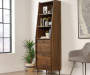 Harvey Park Dark Brown 3-Shelf Narrow Bookcase