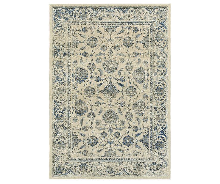 Hathaway Ivory Area Rug 3FT10IN x 5FT5IN Silo Image