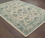 Hathaway Ivory Area Rug 7FT10IN x 10FT10IN On Wood Floor