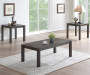 Hayden Brown Wire Brush 3-Piece Occassional Table Set Lifestyle Image Angled View