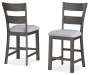 Hayden Brown Wire Brush Counter Height Barstools 2 Pack Silo Stools