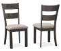 Hayden Brown Wire Brush Dining Chairs, 2-Pack