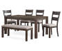 Hayden Brown Wire Brush Dining Table