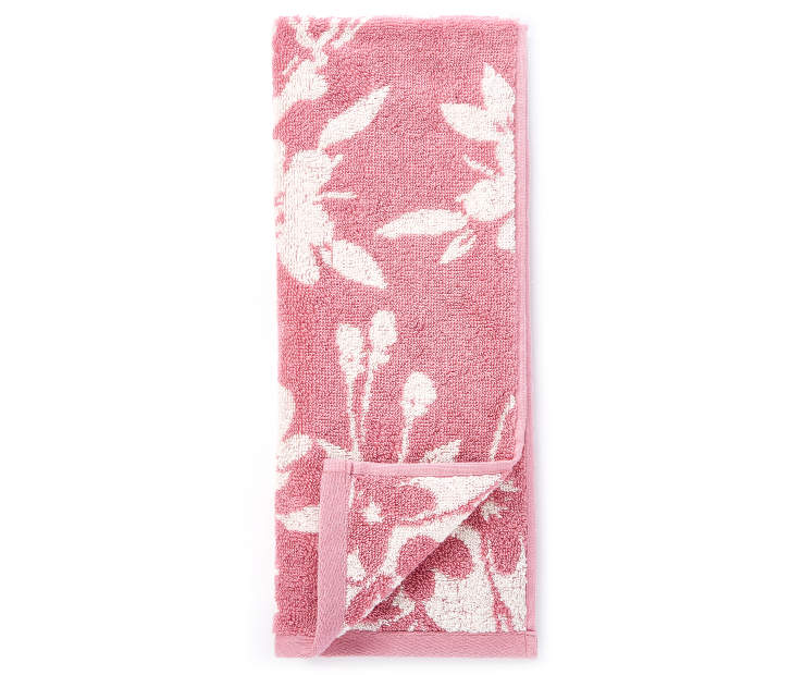 Heather Rose Flowers Double Jacquard Hand Towel silo front
