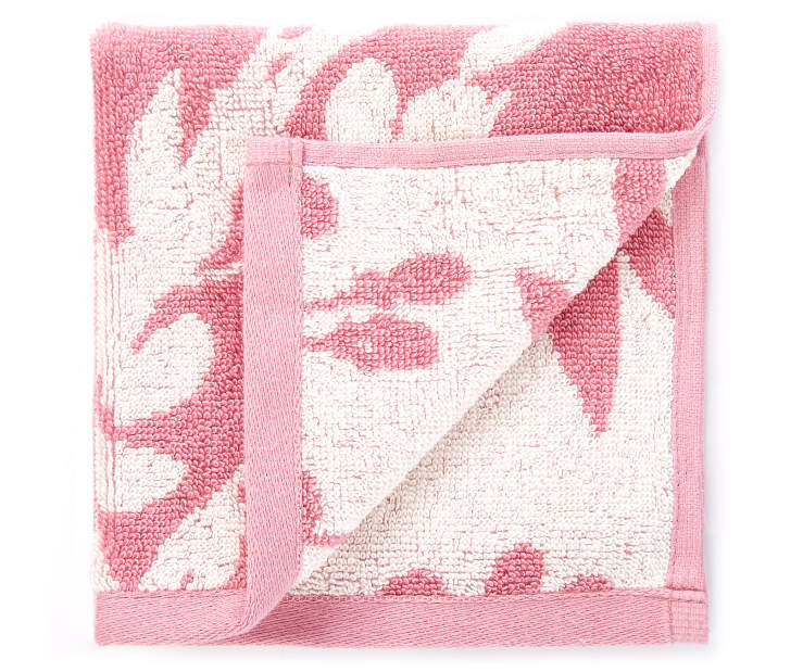 Heather Rose Flowers Double Jacquard Wash Cloth silo front
