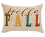 Hello Fall Lumbar Throw Pillow 13 inch x 18 inch silo front