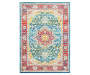 Hemlock Red Area Rug 5 Feet 3 Inches by 7 Feet 6 Inches Overhead View Silo Image