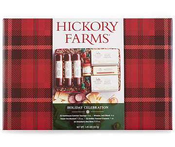Hickory Farms Holiday Celebration Meat Cheese Food Gift Set 23 2 Oz