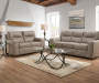 Hilltop Pebble Tan Faux Leather Sofa