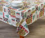 Holiday Patchwork PEVA Tablecloth 52 inch x 90 inch lifestyle