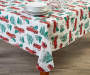Holiday Truck PEVA Tablecloth 52 inch x 70 inch lifestyle