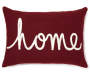 Home Burgundy Lumbar Throw Pillow 13 inch  x 18 inch silo front