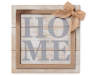 Home Burlap Bow Wooden Plaque silo front
