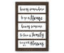 Home Family and Blessing Window Shutter Wall Decor 12 inches x 18 inches silo front