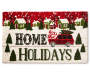 Home For The Holidays Coir Christmas Doormat Overhead Shot Silo Image
