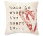 Home Is Where The Heart Is Throw Pillow 18 Inch by 18 Inch Front View Silo Image