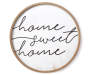 Home Sweet Home Circle Frame Plaque silo front