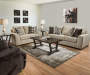 Horizon Tan Chenille Loveseat